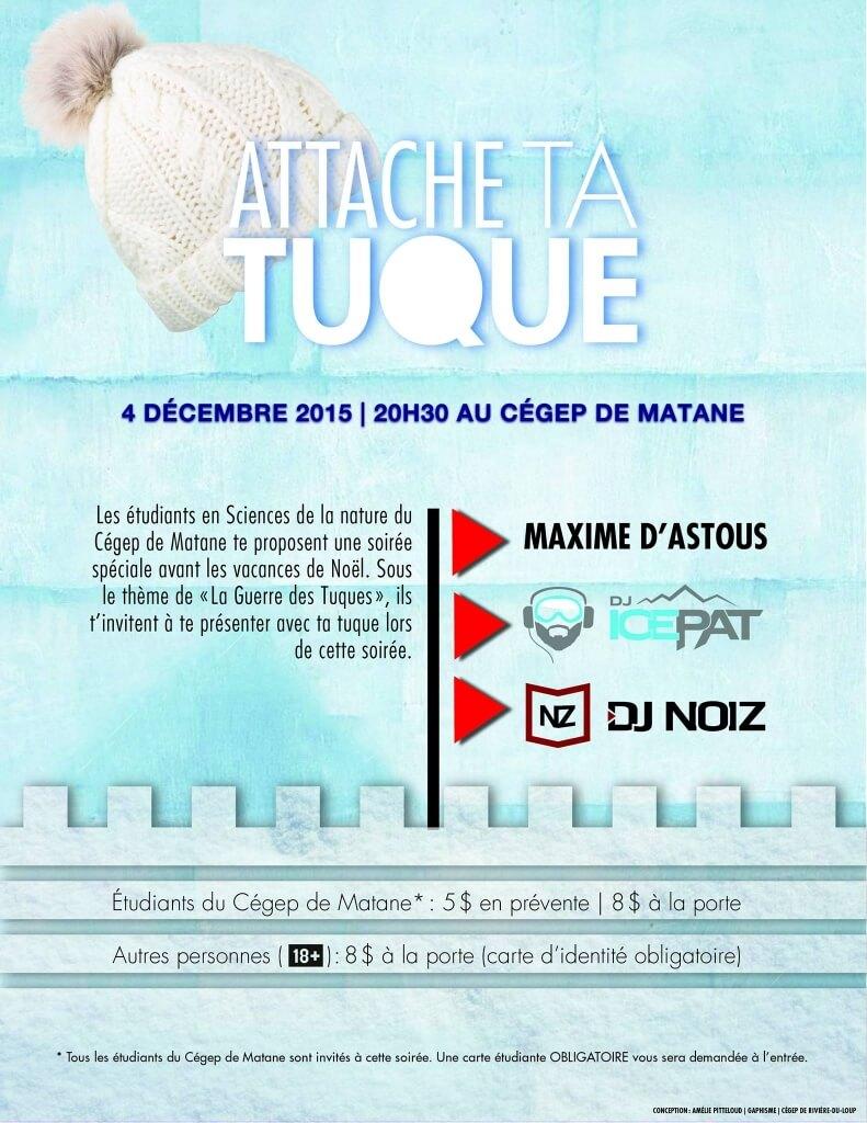 Crédit Photo: Amélie Pietteloud<br/>Visuel «Attache ta tuque» - Party de Noël