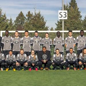Équipe Les Capitaine du Cégep de Matane en soccer extérieur mixte.<br />