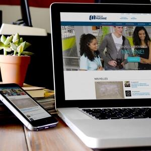 Nouveau site Web du Cégep de Matane.<br />