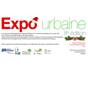 Carton d'invitation de la 8e édition de l'Expo urbaine.<br />Crédit Photo: Expo urbaine