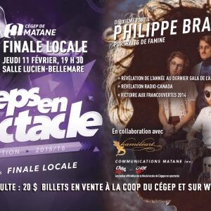 Spectacle des participants de Cégeps en spectacle & Philippe Brach en deuxième partie!<br />