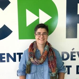 Isabelle Cayer, directrice du Centre de développement et de recherche en imagerie numérique.<br />