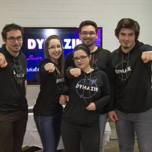 Dynazik, un jeu vidéo musical et musculaire<br />Crédit Photo: Geneviève Thibault, étudiante finissante en Photographie