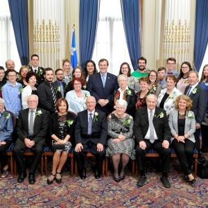 Louise Leblanc (Assemblée nationale du Québec)<br />Crédit Photo: Le ministre de l'Emploi et de la Solidarité sociale et ministre responsable de la région de la Capitale-Nationale, M. François Blais, a rencontré les lauréates et les lauréats du prix Hommage bénévolat-Québec 2017, lors de l'événement tenu en leur honneur.