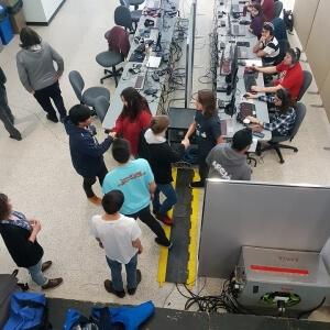 Sport électronique (eSport) - Les CPTN du Cégep de Matane accueillent les équipes de sport électronique Les équipes du Bleu et blanc de la Polyvalente de Matane  - 25 novembre <br />Crédit Photo: Pierre-Yves Sirois & Game-focus.com