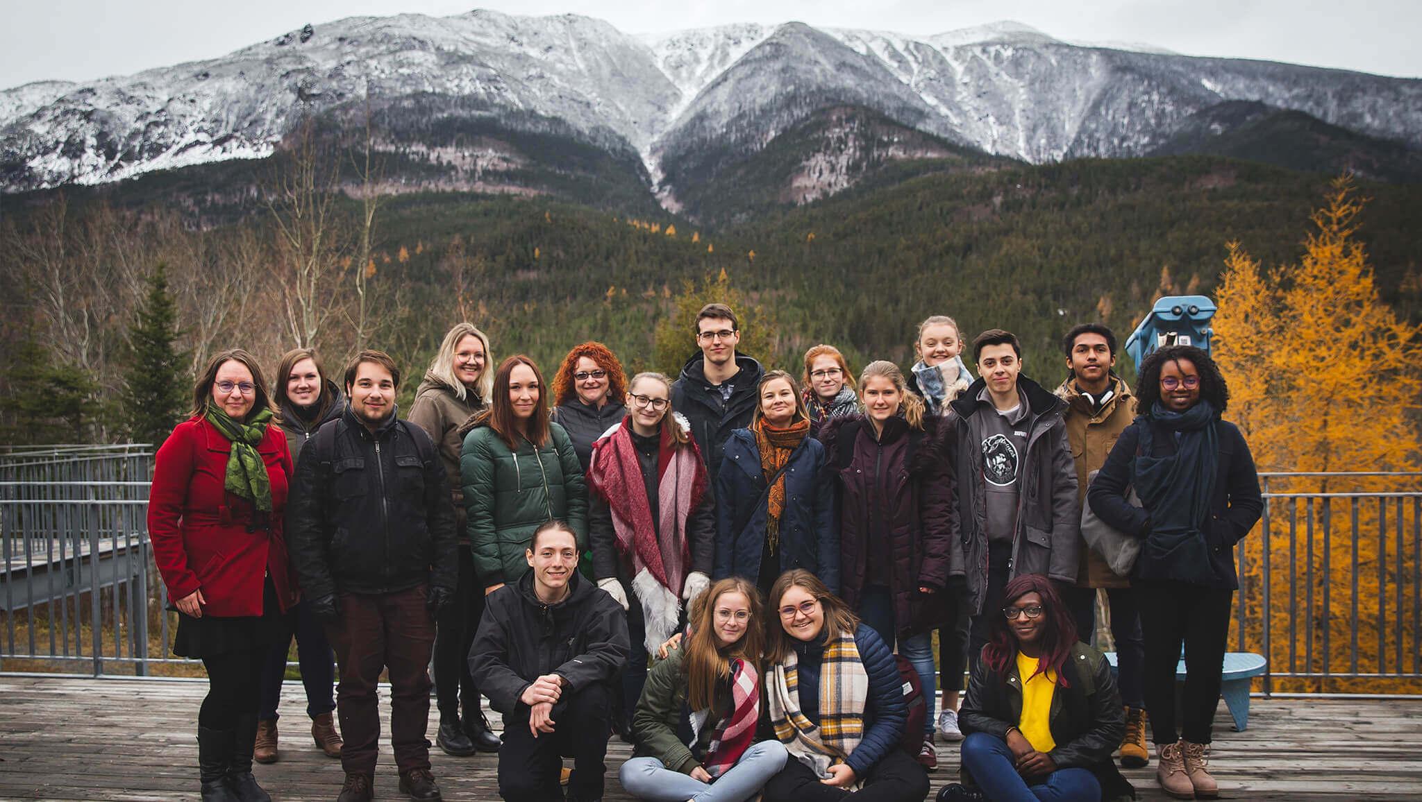 Étudiants du programme Tourisme en visite dans le Parc de la Gaspésie.<br />Crédit Photo: Morgane Moussé