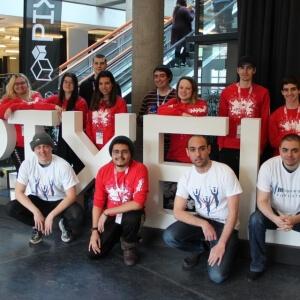 Les étudiants du programme Animation 3D et synthèse d'images présents lors du Pixel Challenge 2018<br />Crédit Photo: Pixel Challenge (Facebook)