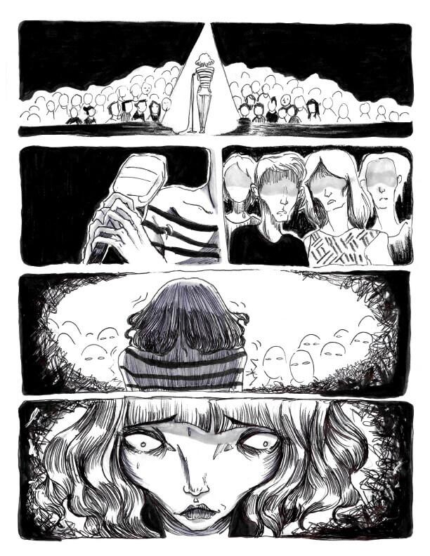 Page 1 - CégepBD oeuvre de Mélissa Doulouma.<br />Crédit Photo: Mélissa Doulouma