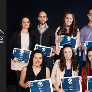 Les récipiendaires des bourses «Excellence académique».<br />Crédit Photo: Gwendoline Le Dortz