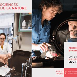 Les étudiants du programme Sciences de la nature du Cégep de Matane vous invitent à la présentation de leurs épreuves synthèses de programme<br />