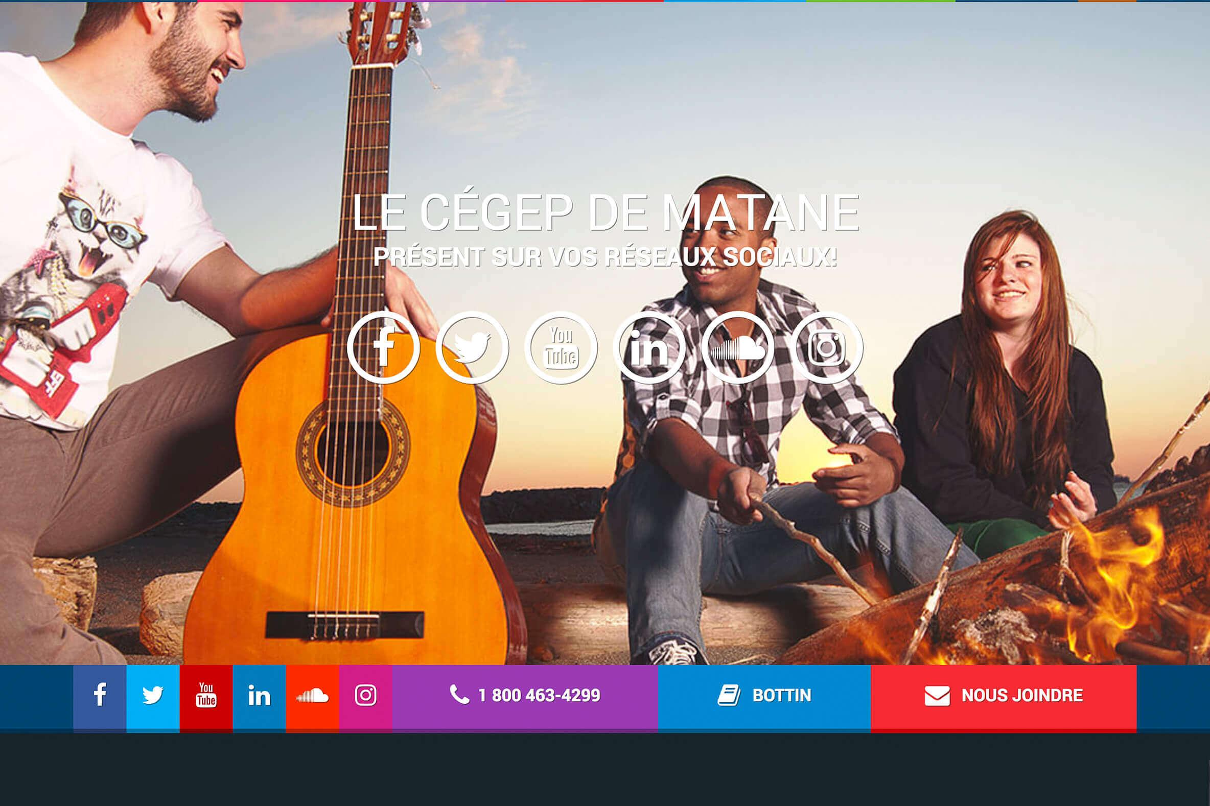 Pied de page du site Web en image
