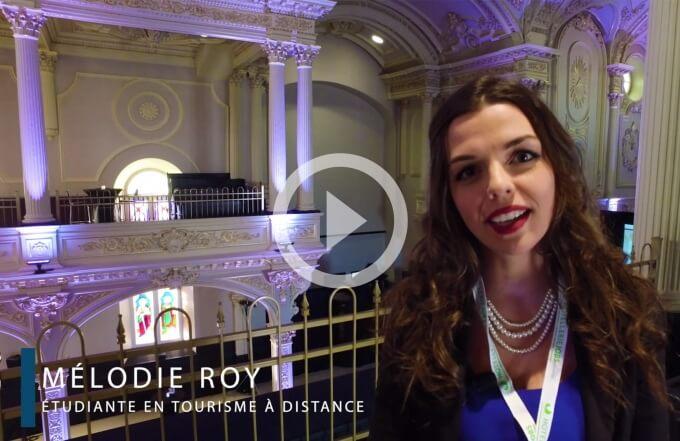 Vidéo témoignage d'une étudiante en tourisme