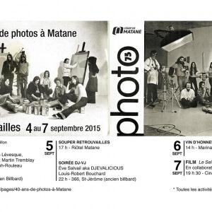 40 ans du département de Photographie du Cégep de Matane<br />