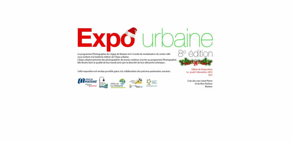 Crédit Photo: Expo urbaine<br/>Carton d'invitation de la 8e édition de l'Expo urbaine.