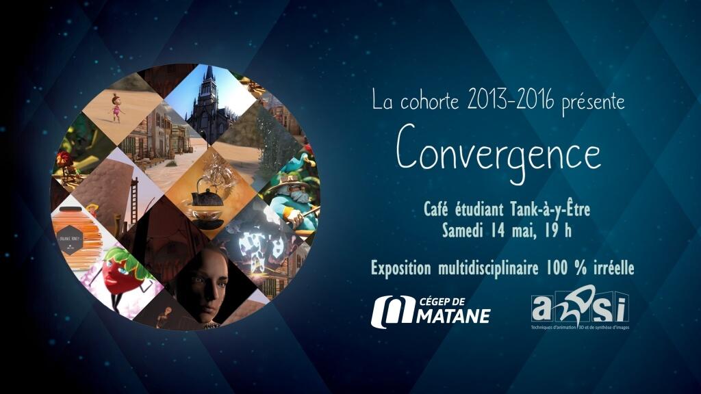 Les étudiants finissants en Animation 3D et synthèse d'images du Cégep de Matane vous invitent à l'exposition Convergence.