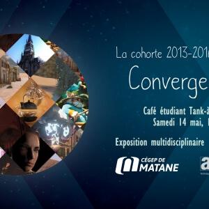 Les étudiants finissants en Animation 3D et synthèse d'images du Cégep de Matane vous invitent à l'exposition Convergence.<br />