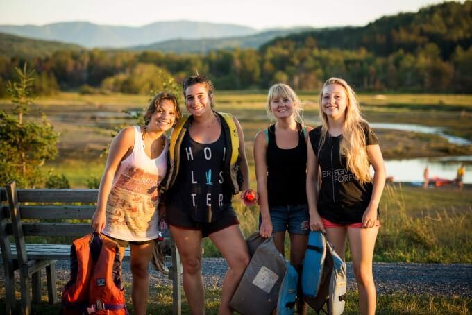 Étudiants en sortie Kayak