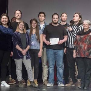 La troupe d'improvisation musicale du Collège d'Alma<br />Crédit Photo: Laurianne Gervais, étudiante en Photographie
