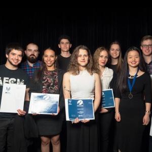 Récipiendaires des bourses de l'étudiant inspirant.<br />Crédit Photo: Philippe St-Pierre