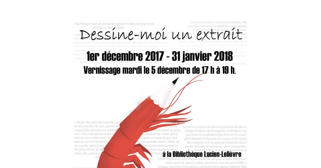 Crédit Photo: Visuel de Sébastien Thibault, illustrateur.<br/>Exposition Dessine-moi un extrait du 1er décembre au 31 janvier 2018.