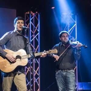 Kevin Delaney et Marc-André Bénard, de l'Institut maritime du Québec à Rimouski.<br />Crédit Photo: Benjamin Marilley, étudiant en Photographie