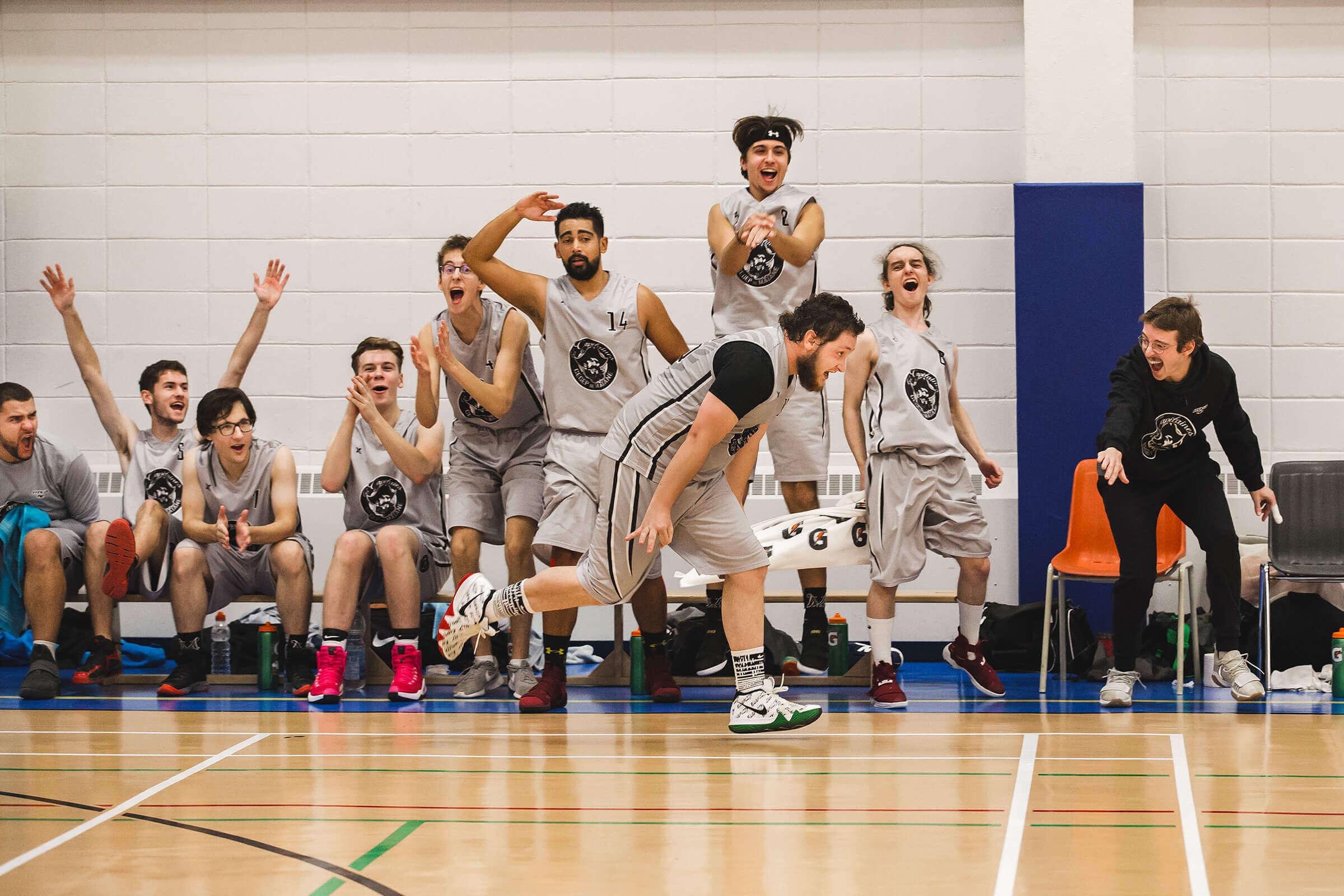 Équipe de Basketball Les Capitaines en action