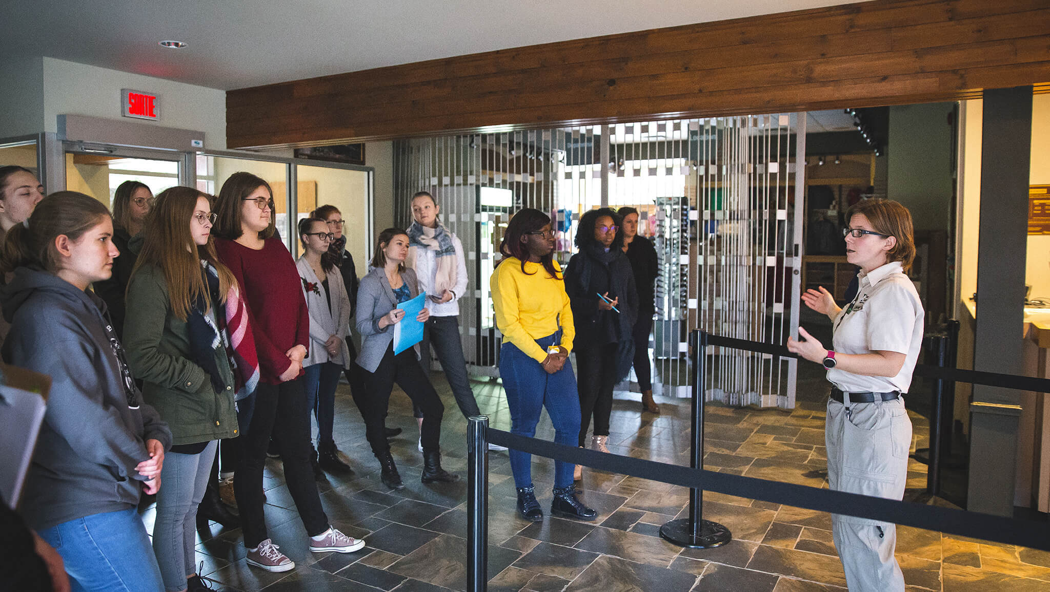 Étudiants du programme Tourisme en visite dans le Parc de la Gaspésie.
