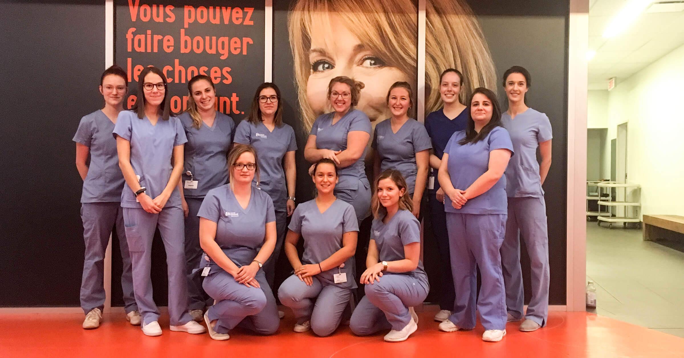 Source : Étudiants en Soins infirmiers lors de la visite à l'Ordre des infirmières et infirmiers du Québec.