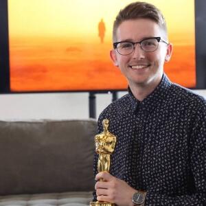 Fabien Kaci, diplômé du programme Techniques d'animation 3D et de synthèse d'images et l'Oscar 2018 for best visual effects remporté par le film Blade runner 2049 du réalisateur québécois Denis Villeneuve.<br />Source : Framestore