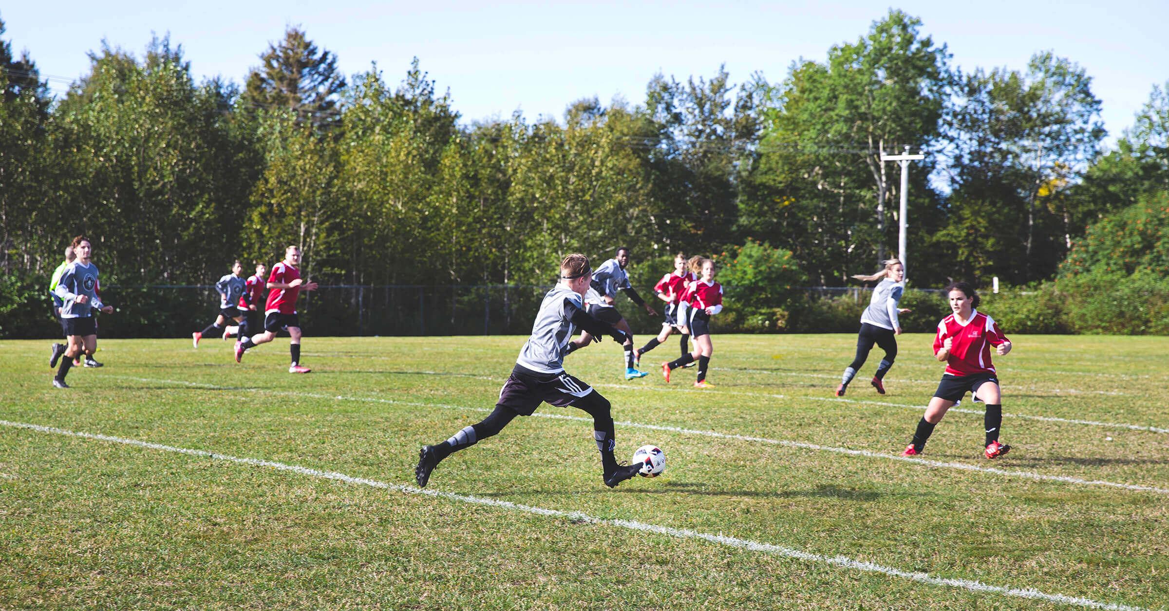 Équipe de soccer extérieur Les Capitaines en compétition<br />