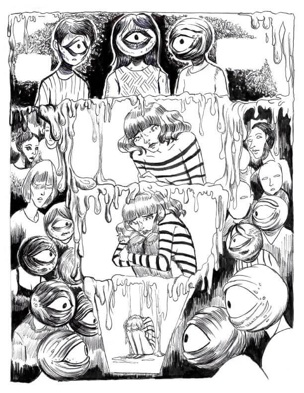 Page 2 - CégepBD oeuvre de Mélissa Doulouma.<br />Crédit Photo: Mélissa Doulouma