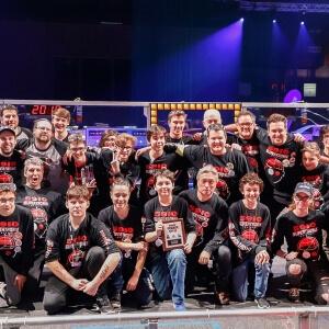 Photo d'équipe lors de la remise du prix « Créativité », le samedi 4 mars 2018<br />Source : Fusion jeunesse