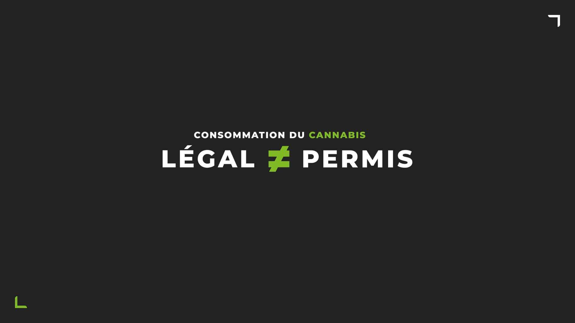 affiche consommation du cannabis