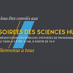 Invitation aux Soirées des sciences humaines.<br />