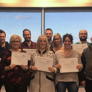 Neuf nouveaux coordonnateurs d'équipe en milieu de travail reçoivent leur diplôme<br />Source : Groupe Collegia
