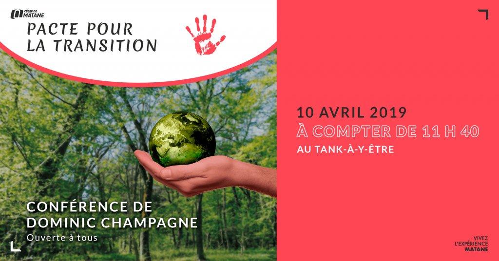 Affiche pour la conférence de pacte pour la transition