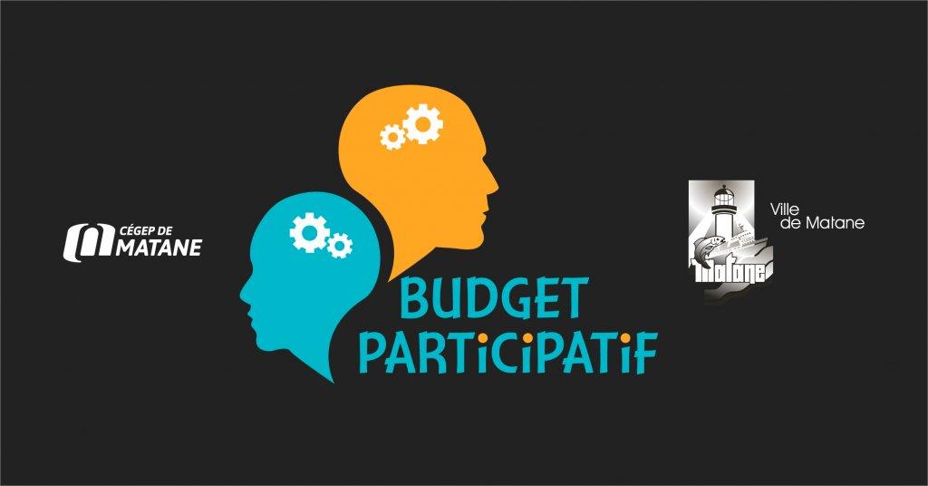 Logo du budget participatif sur fond noir