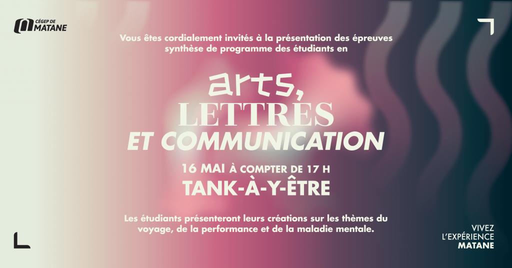 Affiche ESP Arts, Lettres et Communication