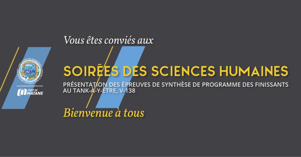 affiche des ESP Sciences humaines