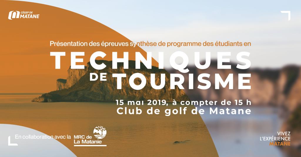 Affiche ESP des étudiants en Tourisme