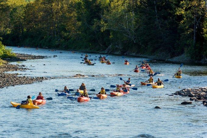 Kayak lors de la rentrée du Cégep de Matane