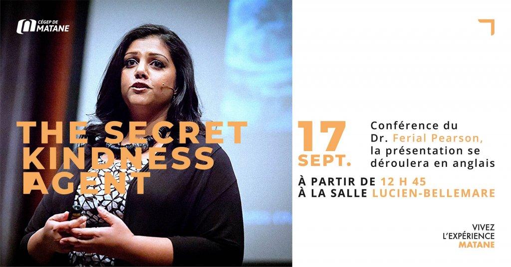 Affiche conférence Dr. Ferial Pearson