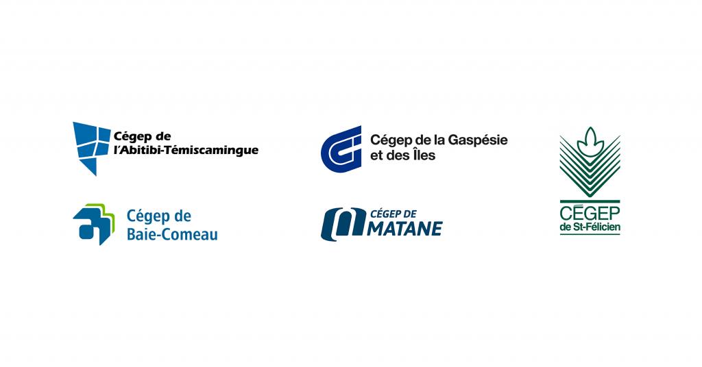 Les logos des cégeps de l'Est