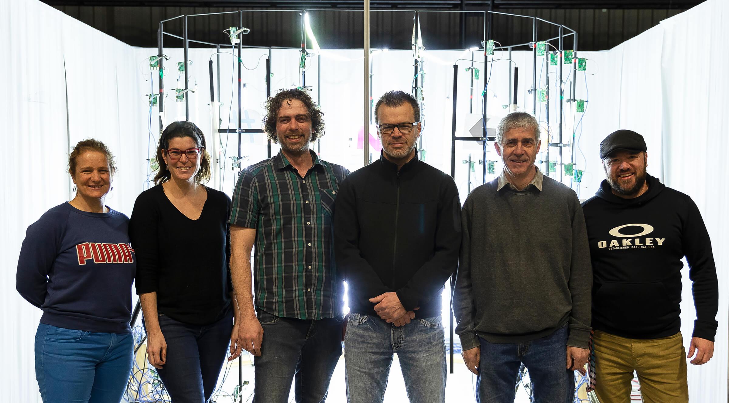 Cinq enseignants du Cégep de Matane impliqués dans les projets de recherche réalisés avec le CDRIN