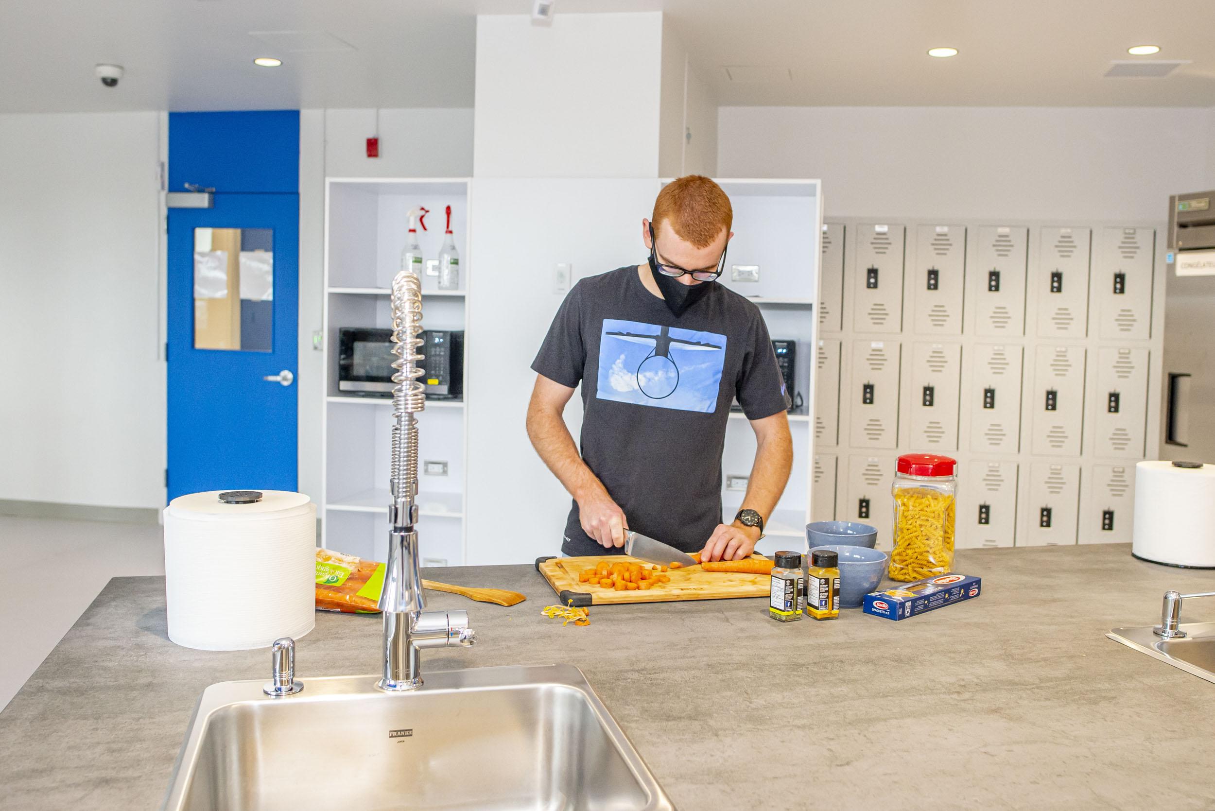 Cuisine des résidences avec étudiants