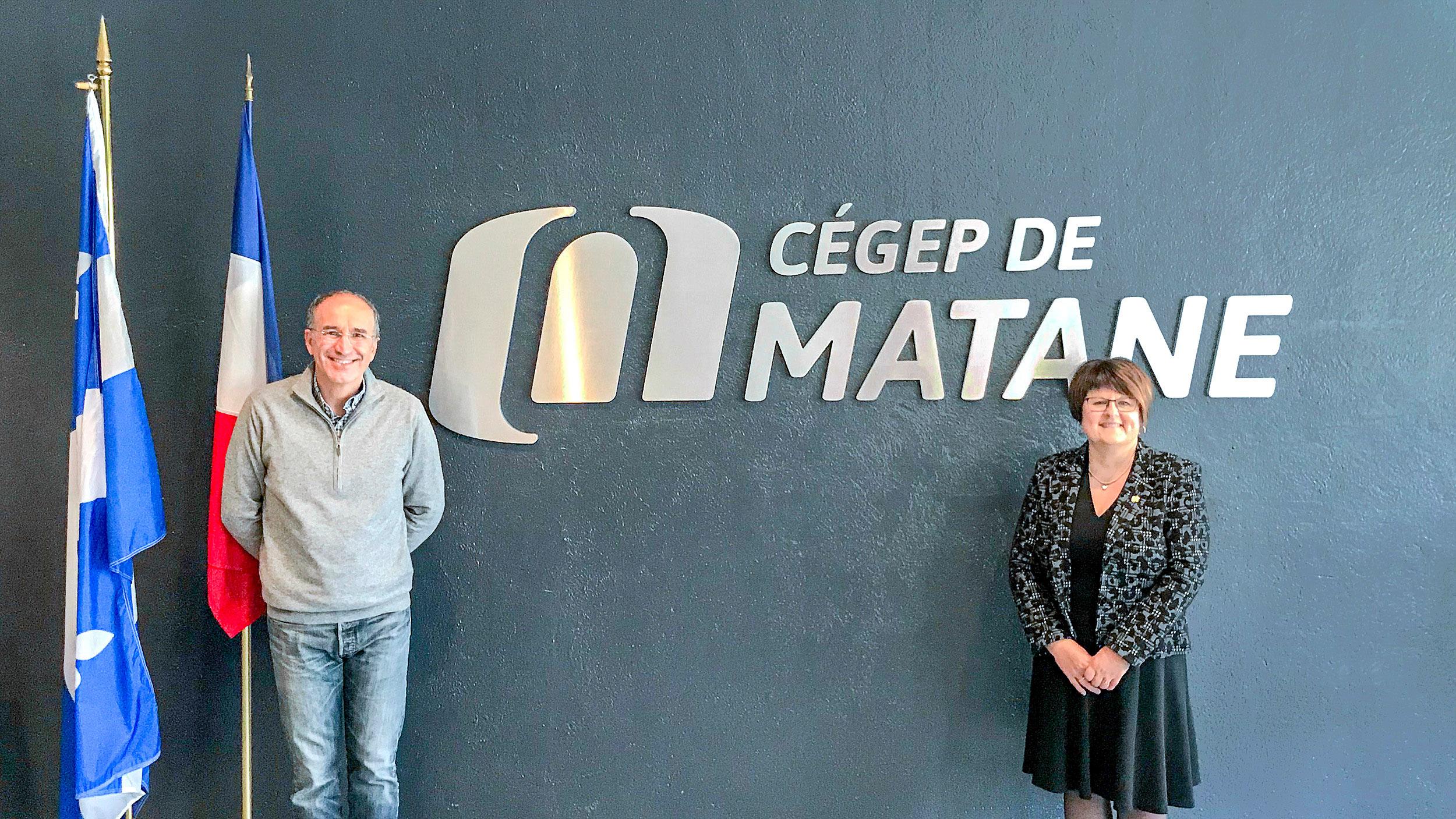 Le Cégep de Matane a reçu la visite du consul général de France à Québec