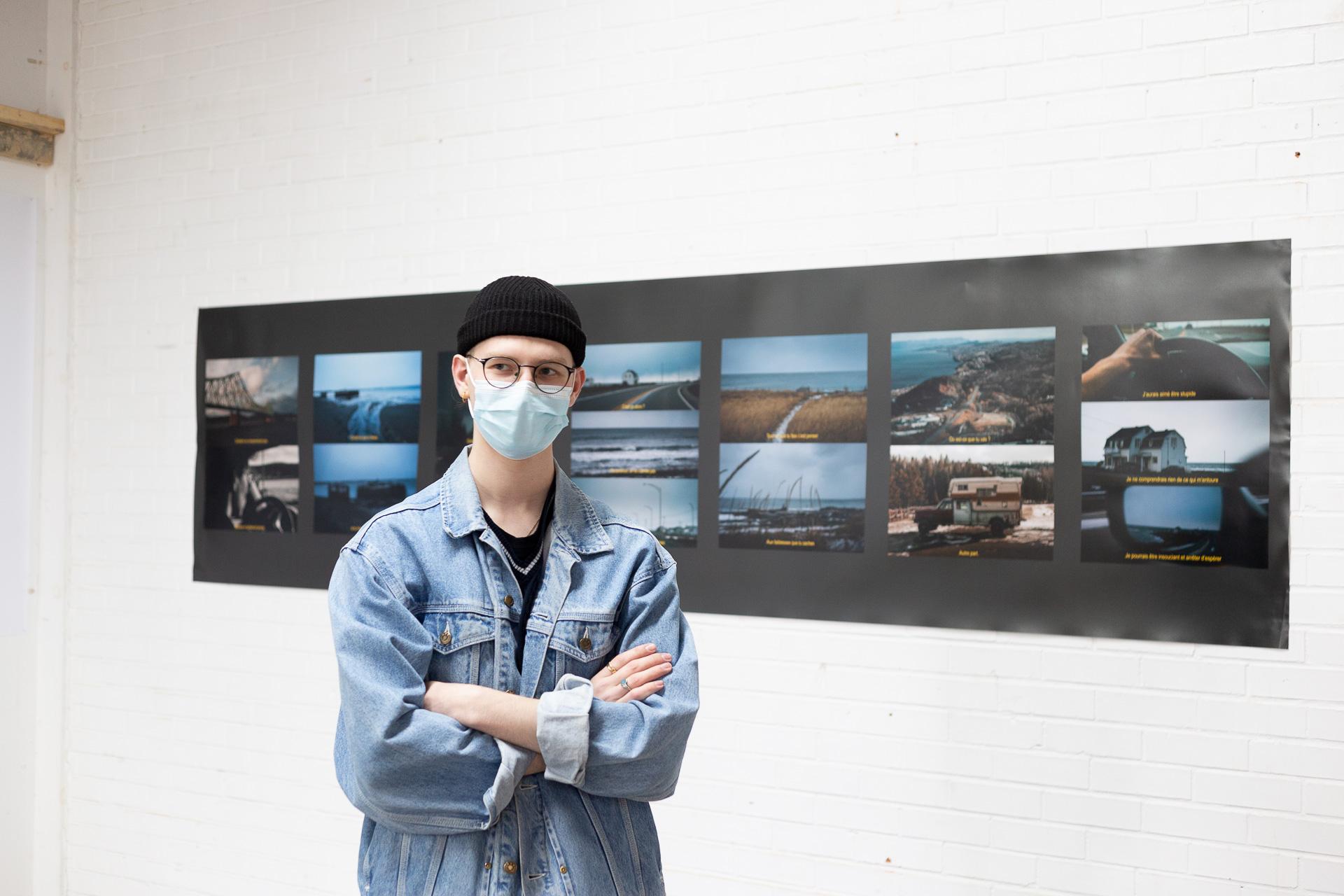 Crédit : Geneviève Thibault. Clément Brochet, l'un des deux étudiants sélectionnés pour une résidence artistique à Salon58 prévue début octobre. <br />