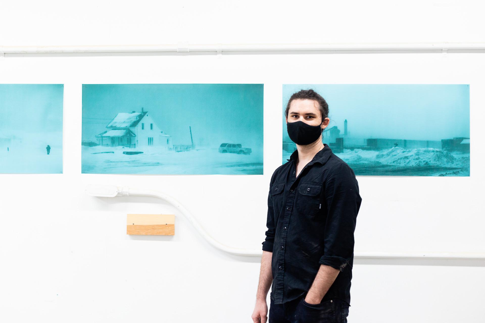 Crédit : Geneviève Thibault. Marvin Serandrei, l'un des deux étudiants sélectionnés pour une résidence artistique à Salon58 prévue début octobre. <br />